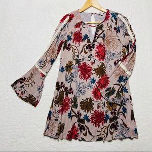 UMGEE Dress Tunic Swing Boho Bell sleeve S New
